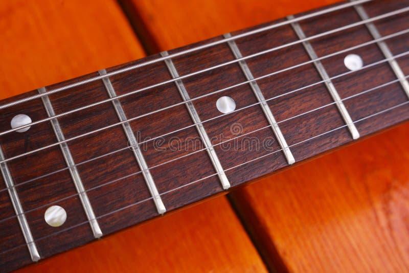 吉他特写镜头 免版税库存图片