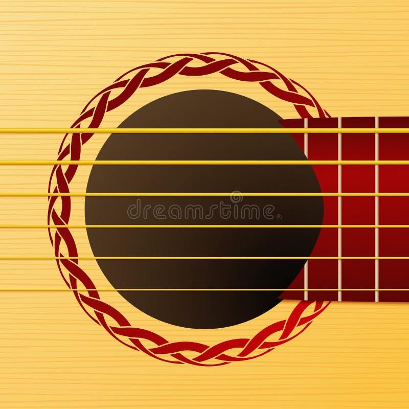 吉他甲板 库存例证