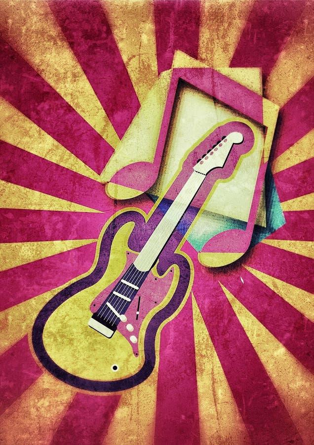 吉他音乐党 皇族释放例证
