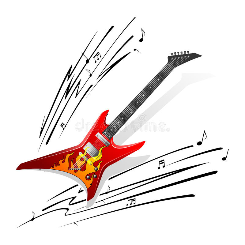 吉他 库存例证