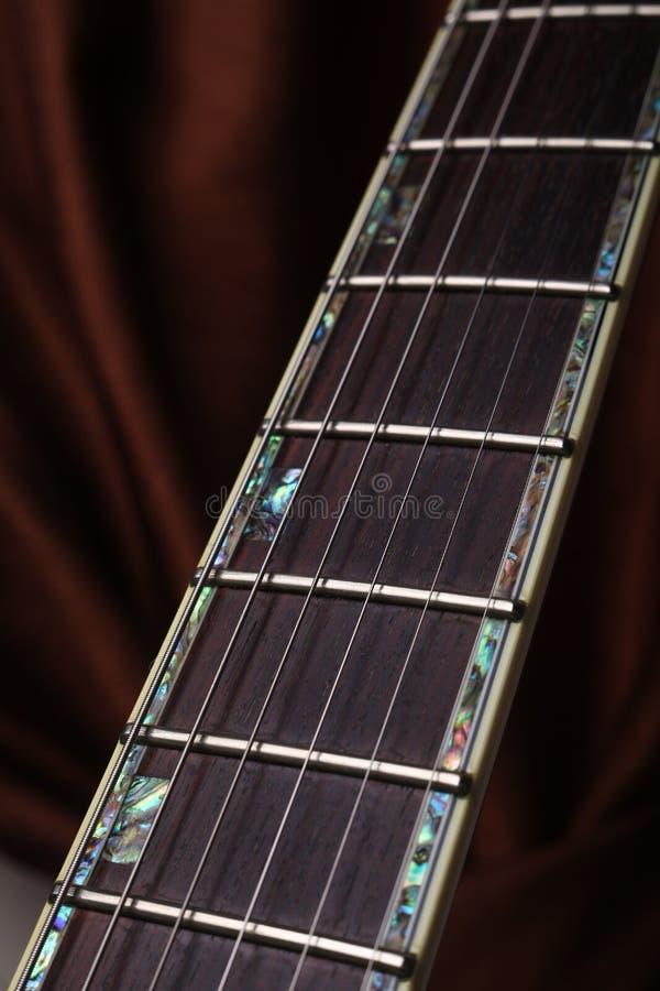 吉他Fretboard 库存照片