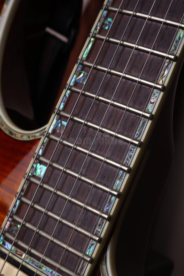 吉他Fretboard 免版税图库摄影