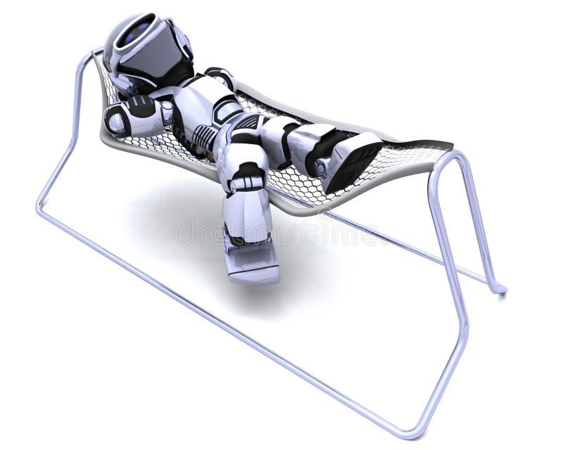吊床位于的机器人 皇族释放例证
