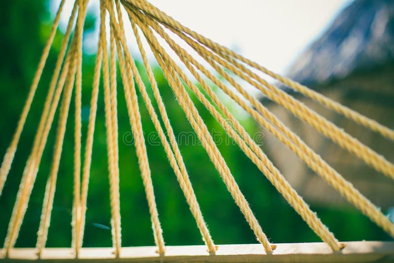 吊床绳子 库存图片