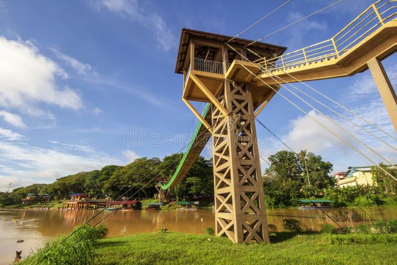 吊桥两次河集会 图库摄影