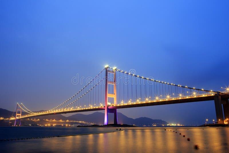吊桥在香港 免版税库存照片