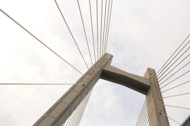 吊桥塔 免版税库存图片