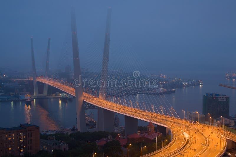 吊桥的空缺数目在符拉迪沃斯托克的 免版税库存照片