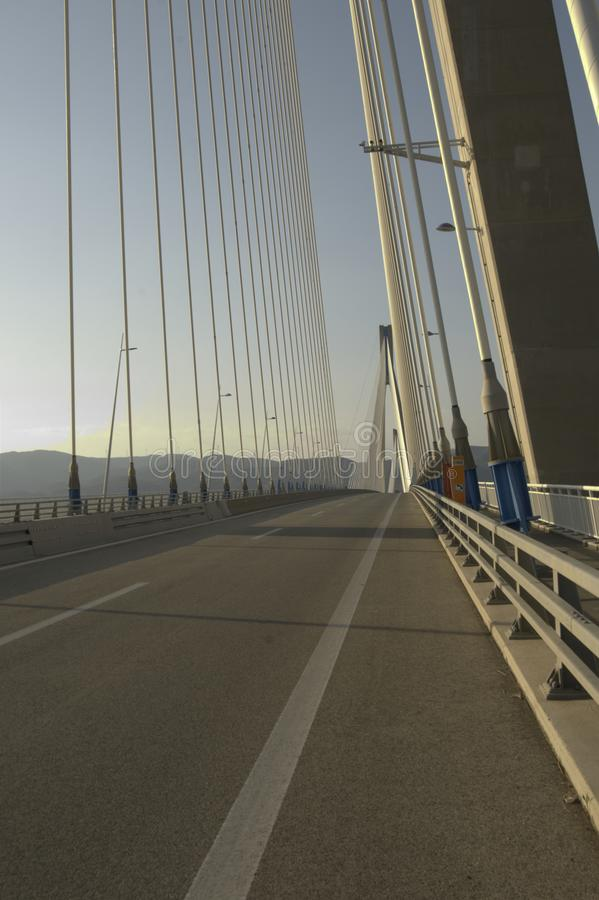 吊桥高速公路细节 免版税图库摄影
