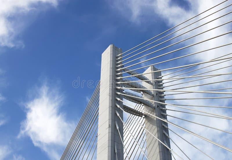 吊桥细节 免版税库存图片