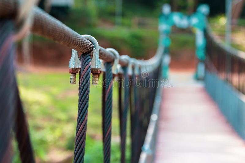 吊索桥梁夹子 免版税库存图片
