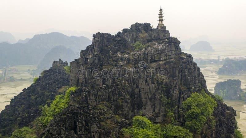 吊Mua石灰岩地区常见的地形越南 库存图片