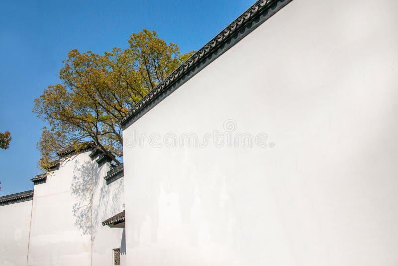同一镇墙壁的乌江市 免版税库存图片