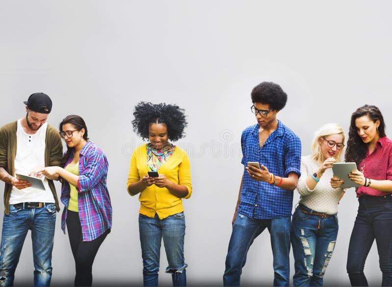 同事连接学生关系队概念 免版税库存图片