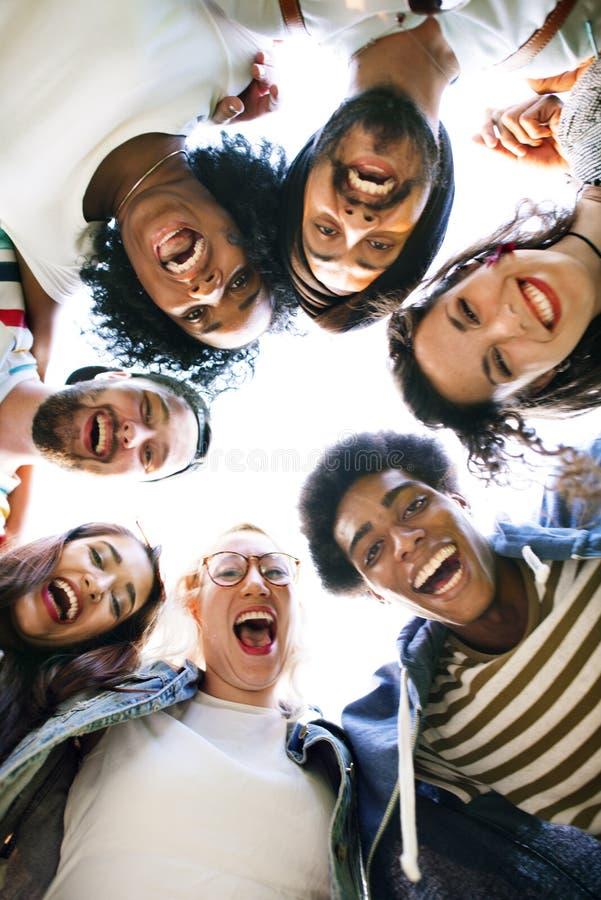 同事连接学生关系队概念 库存图片