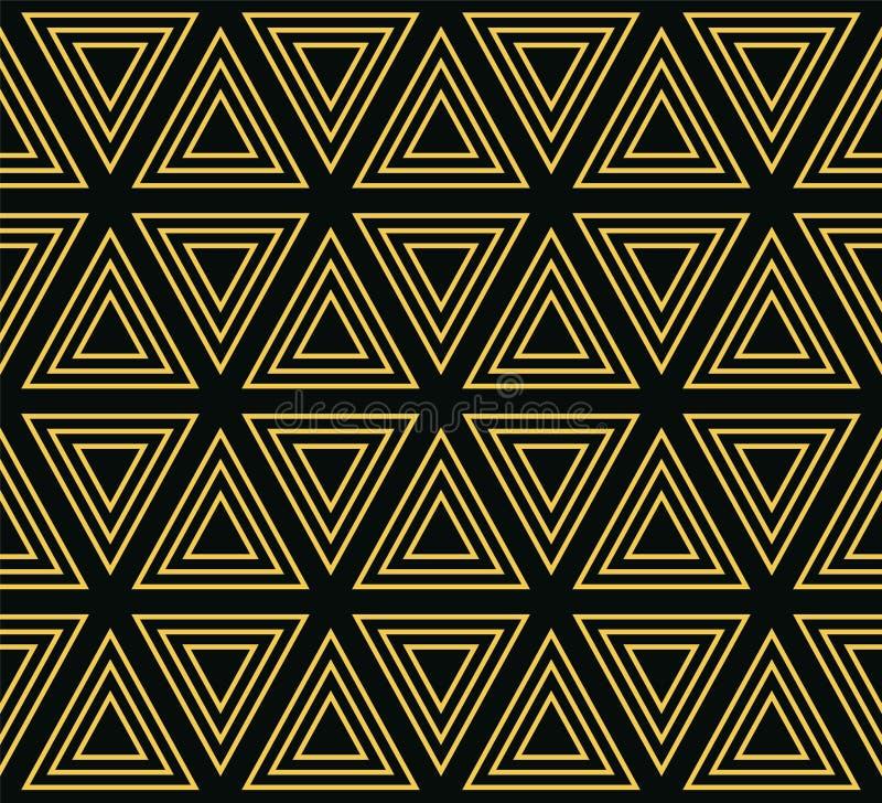 同心三角的无缝的几何样式 向量例证