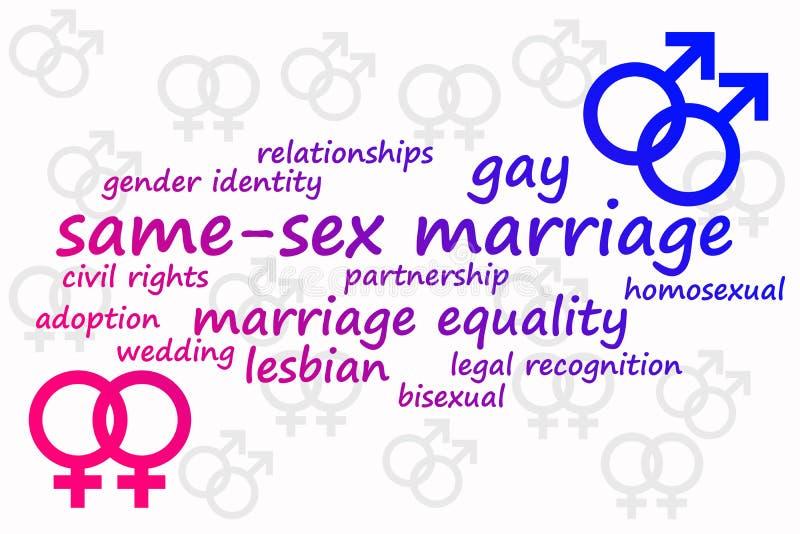 同性婚姻 库存例证