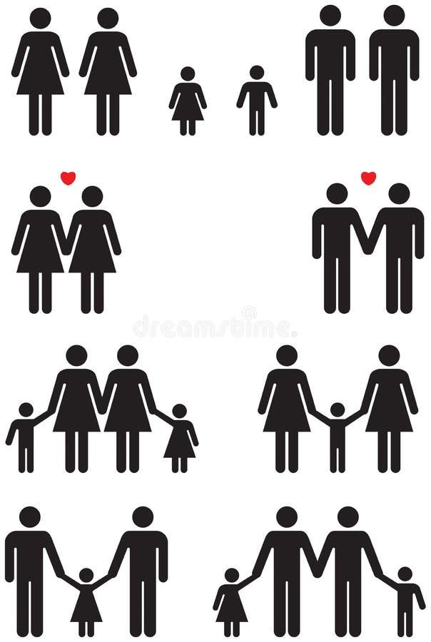 同性家庭象(同性恋婚姻) 皇族释放例证