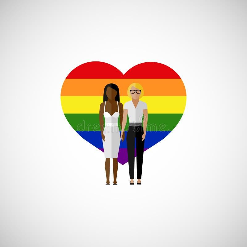 同性恋婚姻传染媒介平的例证 库存例证