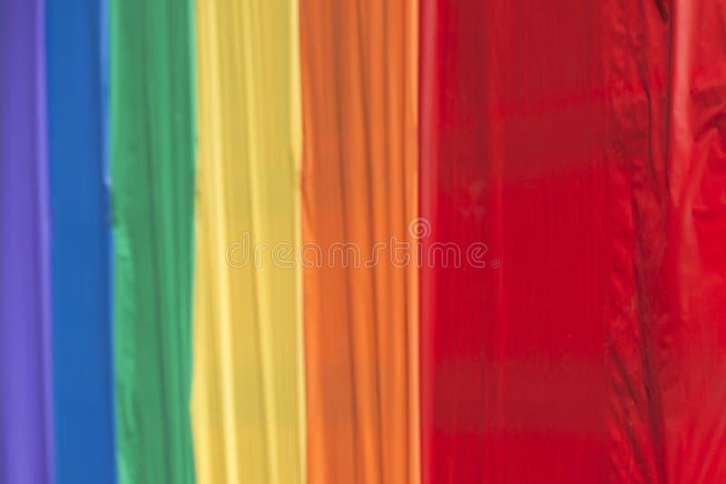 同性恋自豪日彩虹和平旗子 库存照片