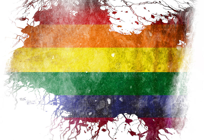 同性恋自豪日旗子 库存例证