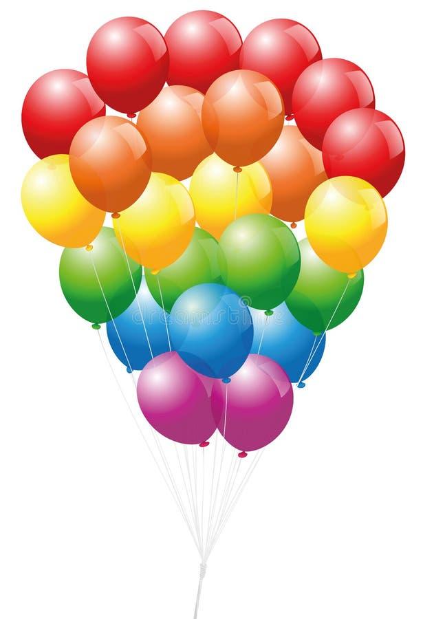 同性恋自豪日气球 向量例证