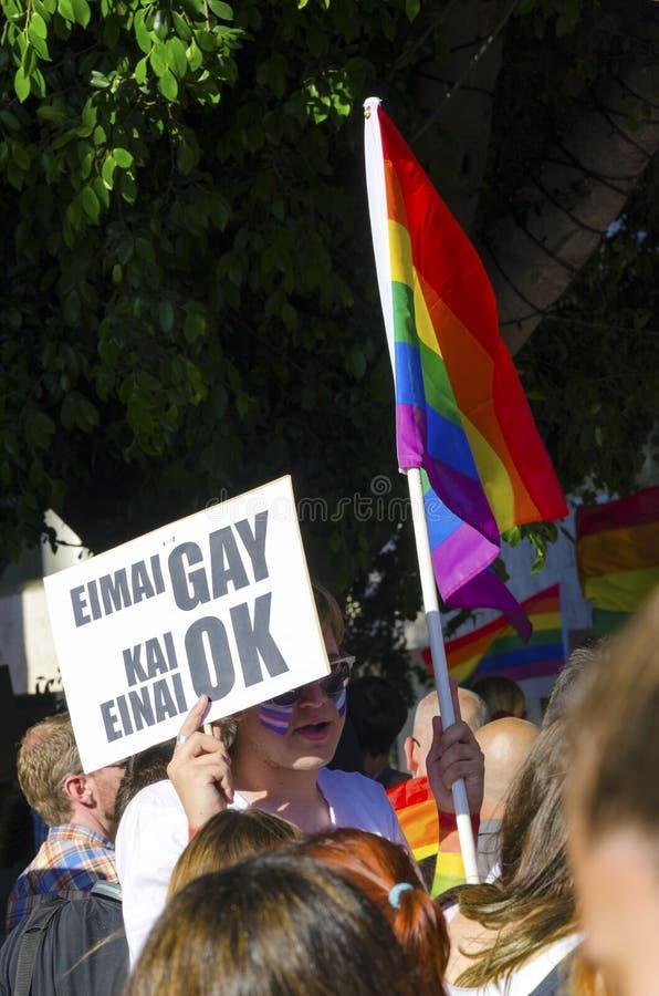 同性恋自豪日游行,塞浦路斯 免版税库存图片
