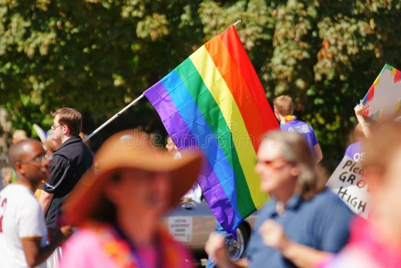 同性恋自豪日游行 库存照片