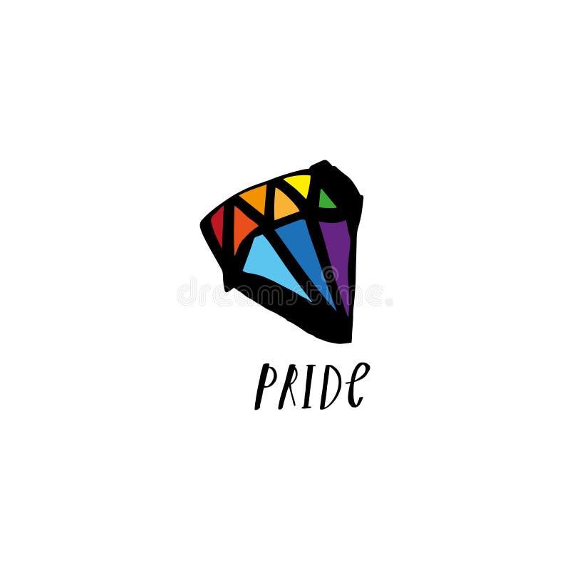 同性恋自豪日LGBT概念例证 Clipart EPS 库存例证