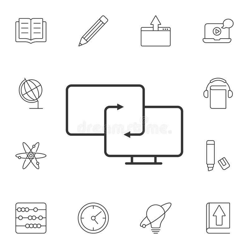 同步象 简单的元素例证 同步从生态汇集集合的标志设计 能为网使用 库存例证