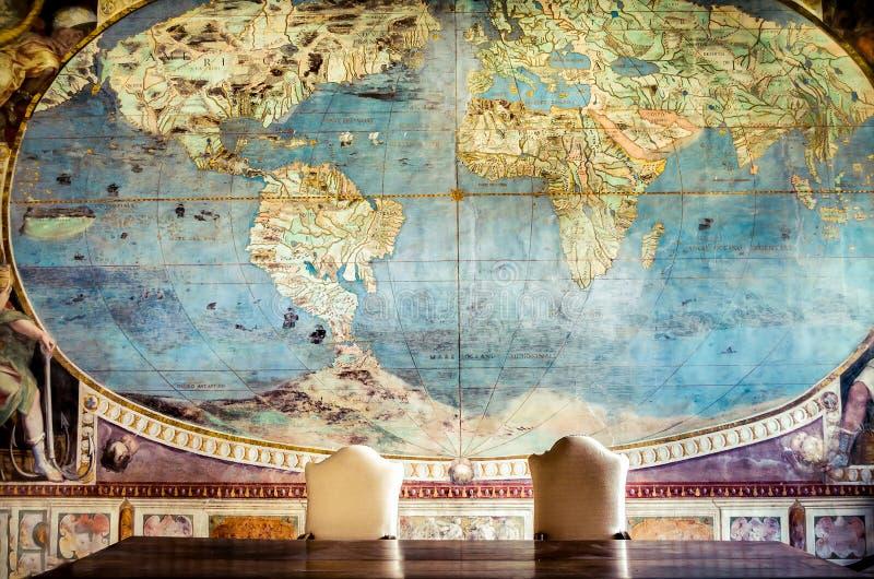 同病相怜控制世界地图 库存图片