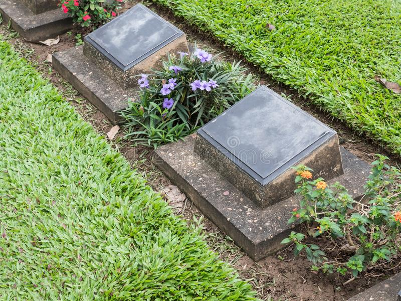 同盟军事公墓的严重行 免版税库存图片
