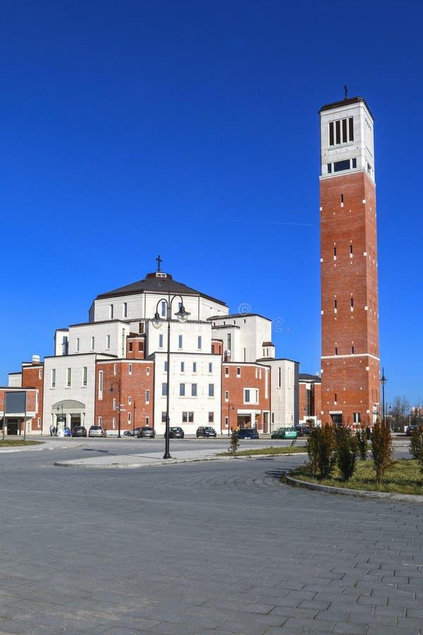 名为有没有恐惧的若望保禄二世中心 克拉科夫波兰 库存照片