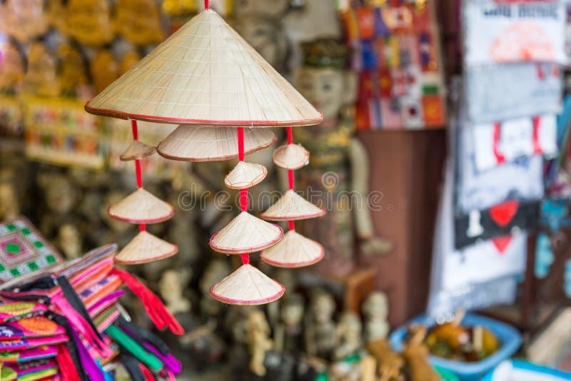 名为的亚洲圆锥形帽子纪念品 库存照片
