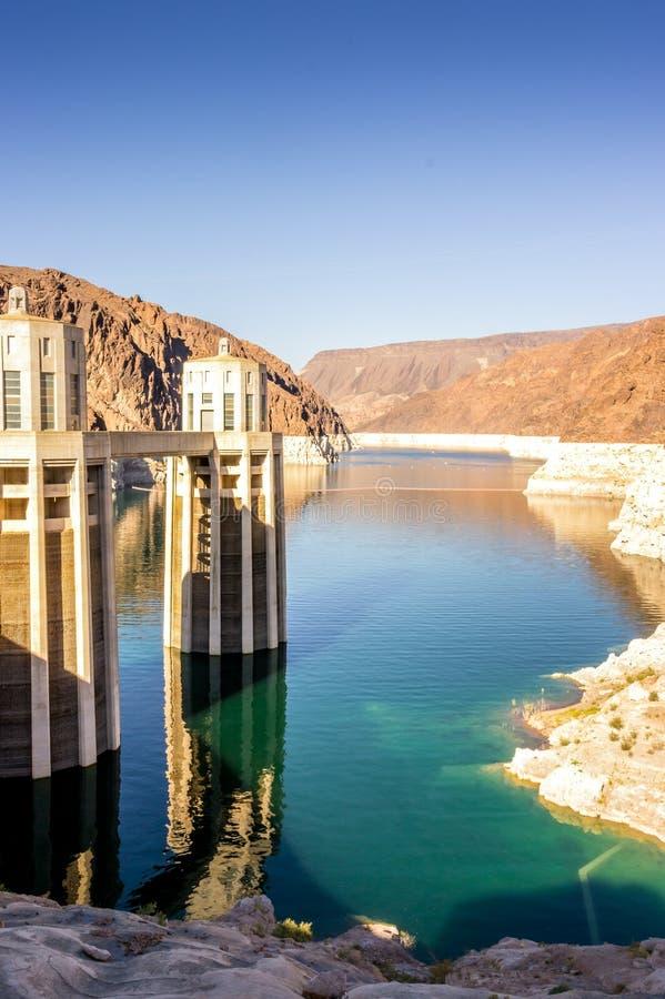 名为胡佛水坝的水电站,内华达 免版税库存图片