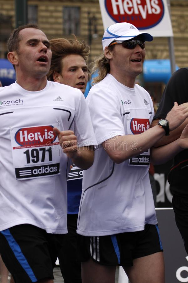 名人半马拉松nedved pavel布拉格 免版税库存照片