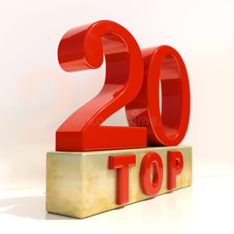 名列前茅20 3D规定值标志 库存例证