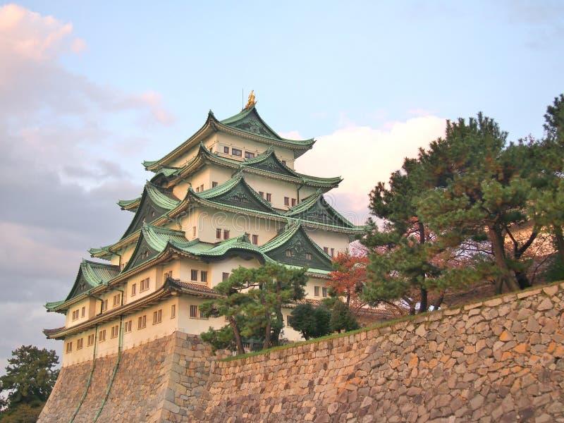 名古屋城堡在名古屋,爱知县,日本 免版税库存照片