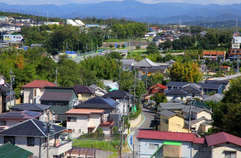 名古屋市的郊区 库存图片