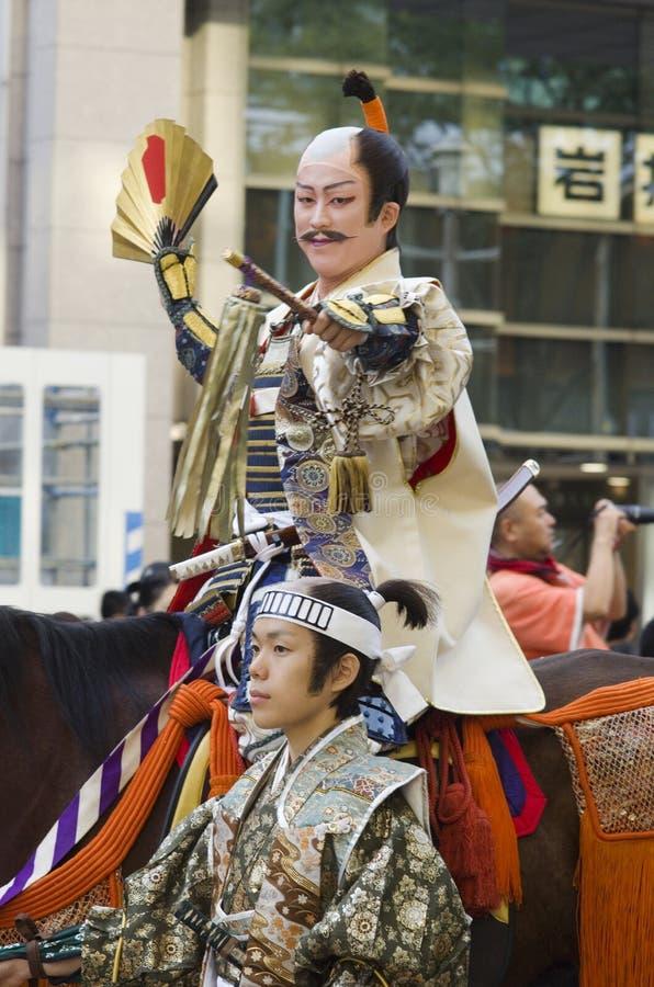 名古屋节日的封建主,日本 库存图片