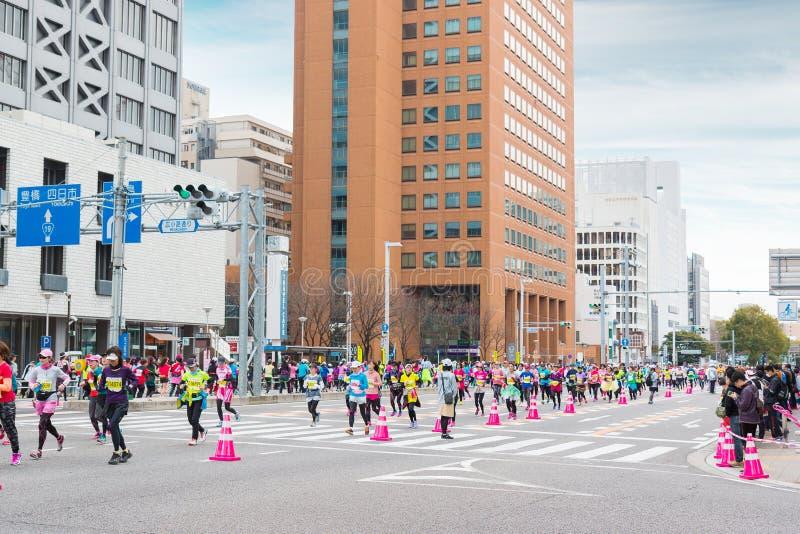名古屋Women's马拉松2016年 库存照片