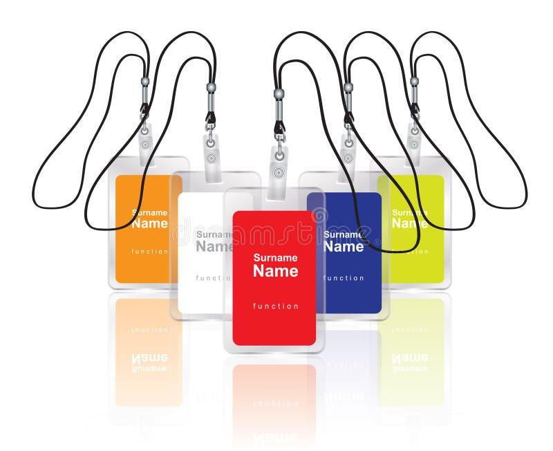名字集合标签 库存例证