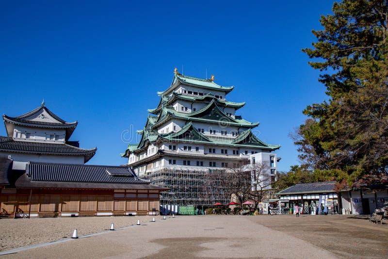 名护屋城地标一在名古屋,日本 免版税库存照片