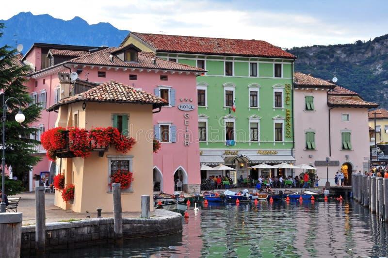 名护Torbole, Garda湖,意大利 库存图片
