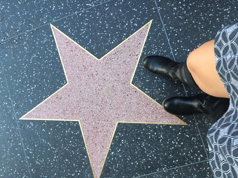名望好莱坞明星空白的步行  免版税库存图片