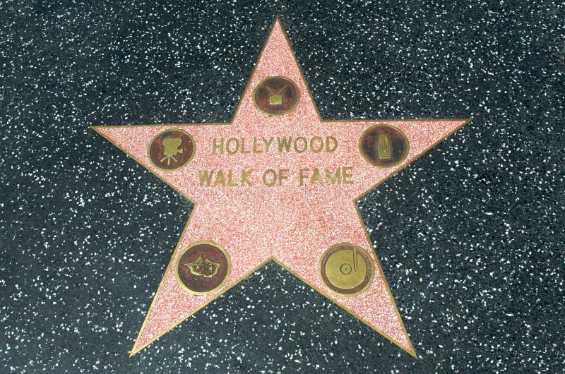名望好莱坞明星结构 免版税图库摄影