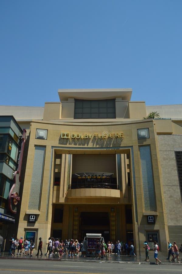 名望步行的柯达杜比剧院在好莱坞Boluvedard 免版税库存图片
