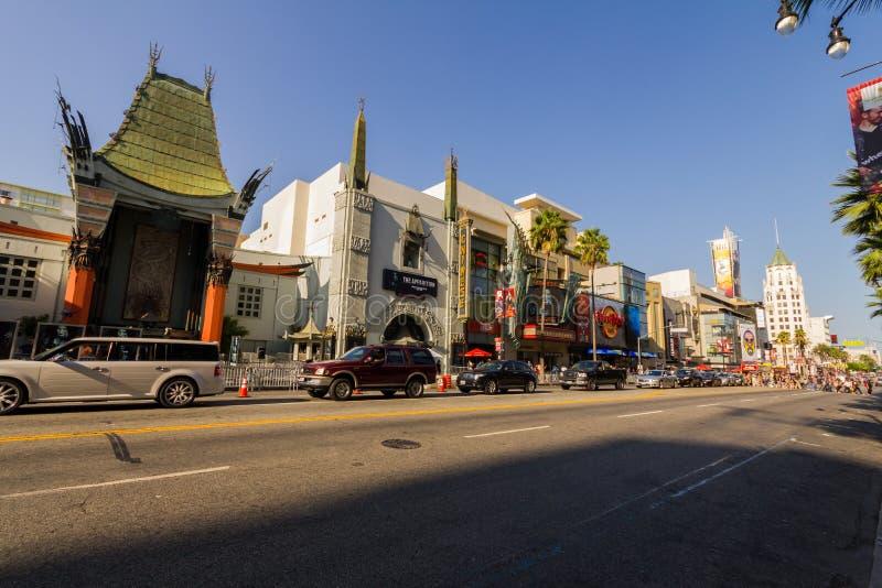 名望步行的,好莱坞,洛杉矶剧院 免版税库存照片