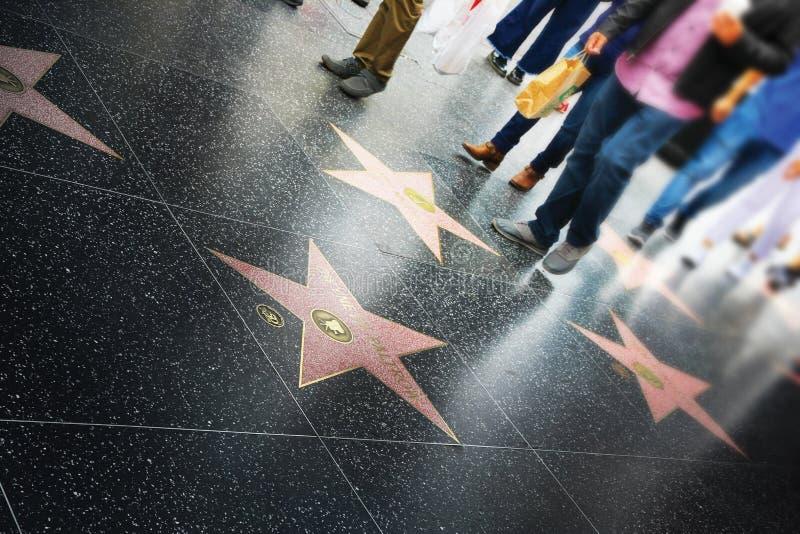 名望步行,好莱坞 免版税图库摄影