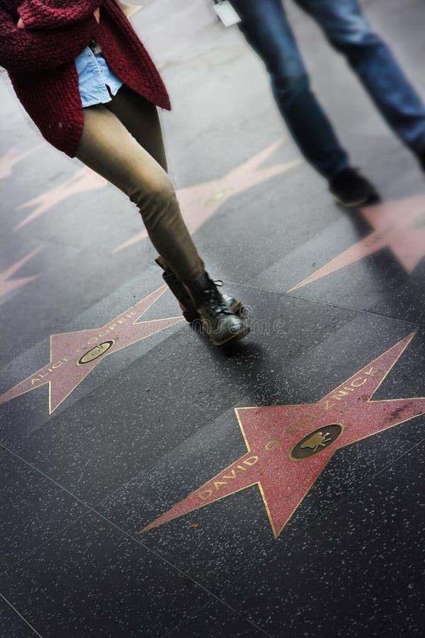 名望步行,好莱坞 图库摄影